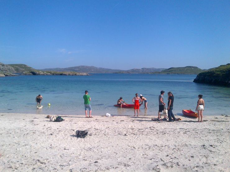 The Maclean Project and family on the secret beach in Lewis!