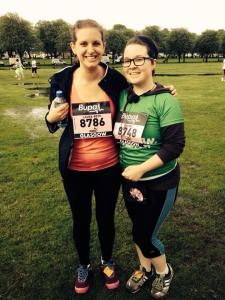 Me and Rach at the Glasgiw Women's Bupa 10k
