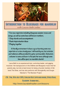 Mandolin workshop poster